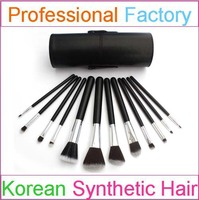Synthetic hair black manly makeup brushes