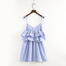 New fashion good quality spaghetti strap shining hot sexy night dress for women with Ruffles