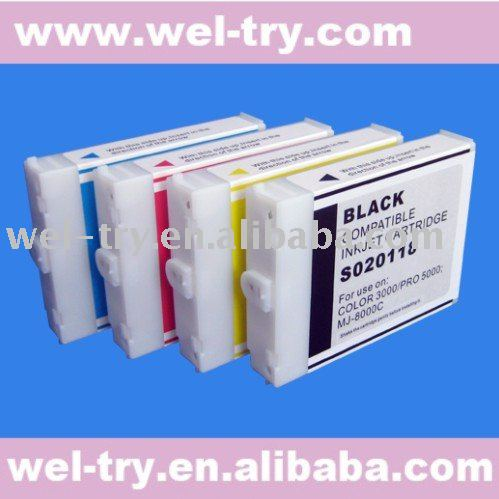 110ML refillable ink cartridge for Epson Color 3000,PRO-5000,MJ-8000C