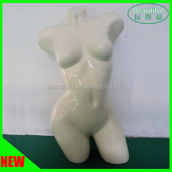 Customized Fiberglass Sexy Mannequin Half Body Fashion Modeling
