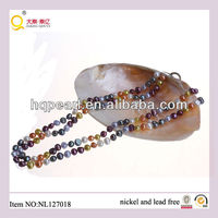two-row freshwater pearl jewellery/jewelery necklace