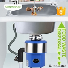 Sink food waste disposer with air switch control