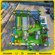 20x10m inflatable funcity Animal theme amusement park inflatable playground, inflatable jumping bouncers
