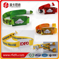 Free samples are available!!Low cost disposable fabric rfid wristband as ticket for event and festival and concert