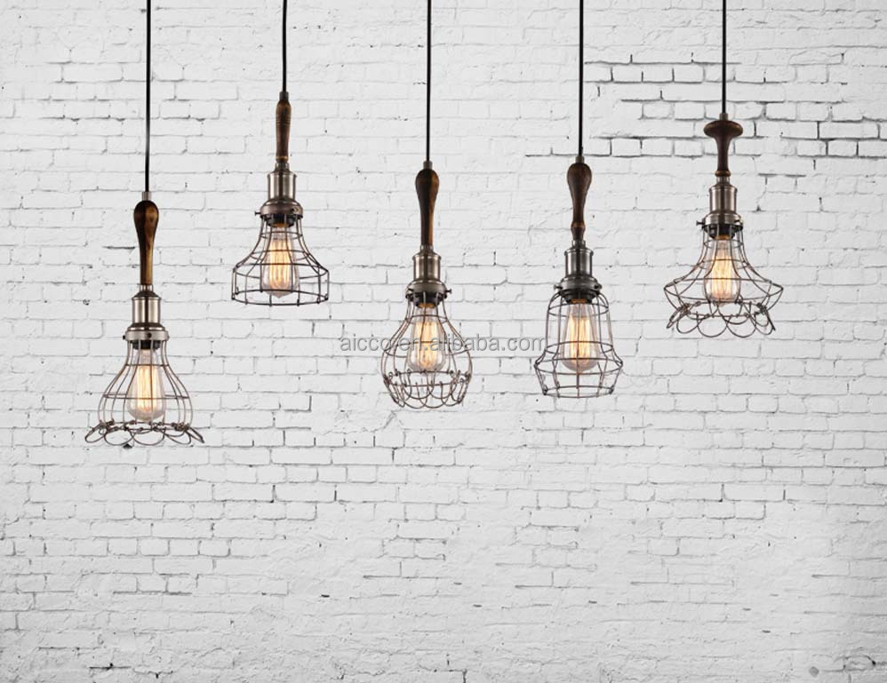 pendant lighting industrial style. decorative pendant lighting vintage industrial style lights edison bulb with wooden wire cage light o