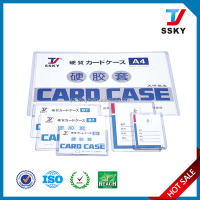 A4 PVC document business card hard case