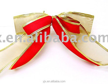 factory direct sale organza christmas colorful flat bows and ribbons for gifts