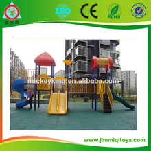 Enjoyable and durable plastic children outdoor playground, metal playground slide for sale, curved slide playground slides