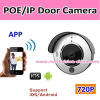 POE/IP wifi door peephole viewer with IR night vision and doorbell ring function