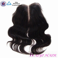 hair bundles with closure 3 part silk base lace closure weave with closure