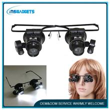 Led eyeglass light ,h0t166 tv portable magnifier , surgical medical magnifying glass