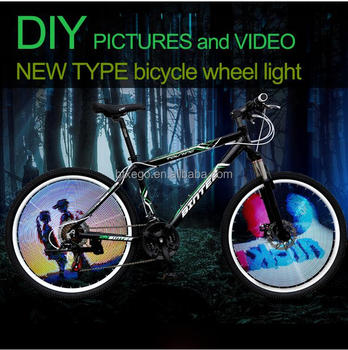 New Bicycle Accessories Rear Light front light programmable bike wheel light