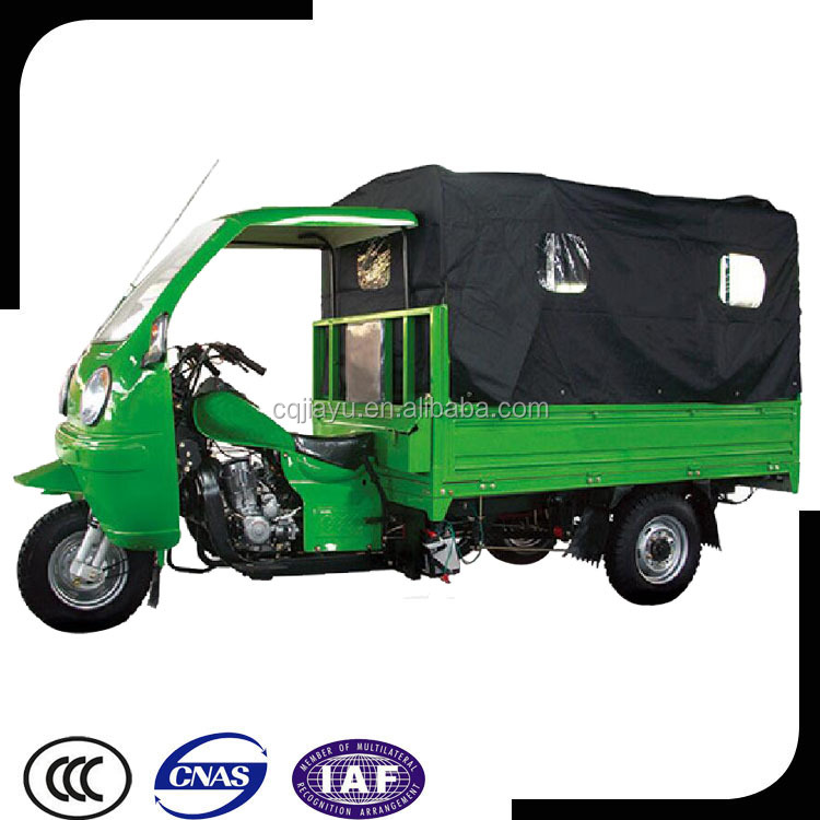 Motorized Semi-closed Tricycle With Closed Cargo Box