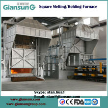 Tilting Aluminum Melting and holding Furnace
