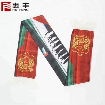 factory price high quality custom printed promotional polyester scarf