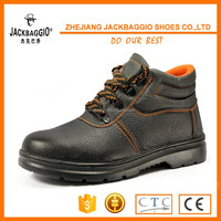 Leather work safety boots blue hammer safety shoes