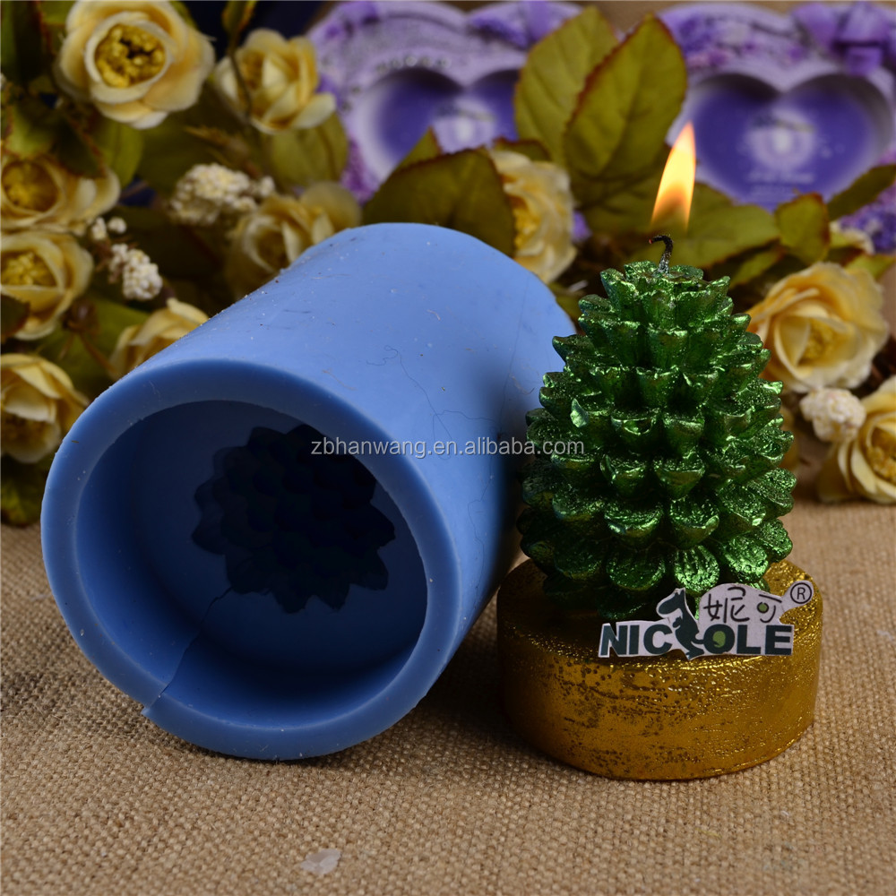 Nicole LZ0012 Flexible 3D Pine Cone Shaped Custom Silicone Molds For Soap Candle