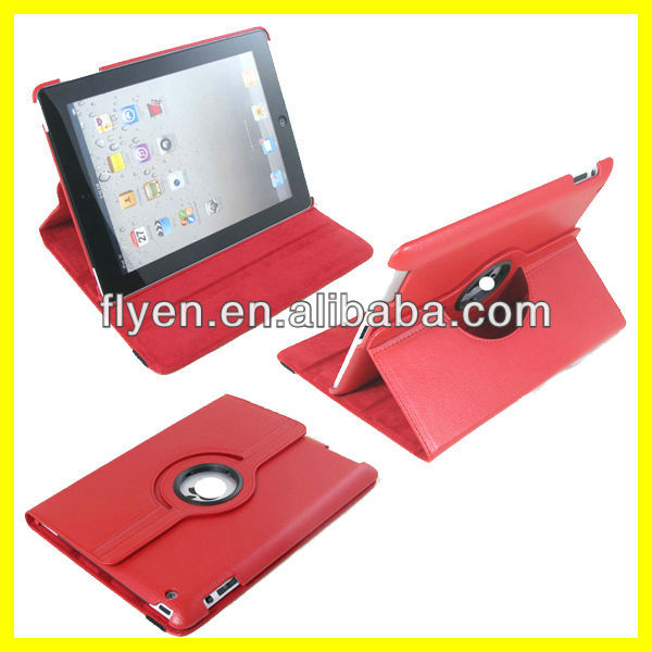 Tablet Accessories for 9.7 inch for iPad 3 Case 360 Rotating Magnetic Smart Cover 2013 Hot Selling