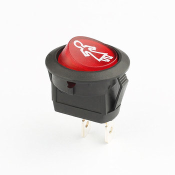 2 position selector round red 12v 16a led light bar rocker switch