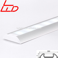 Flat highly extruded aluminum profile for floor light led strip lighting