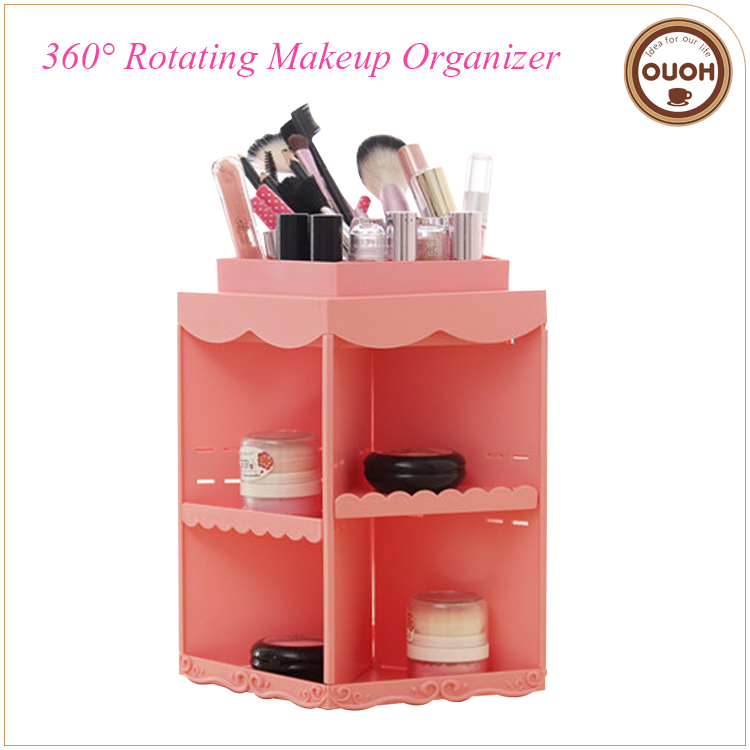 Princess Style 360 Degree Rotating Makeup Storage Organizer Gift Items