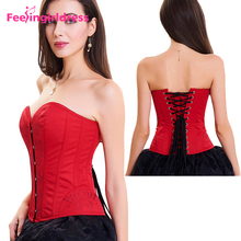 High Quality Slimming Red Women Overbust Punishment Thermal Waist Corset