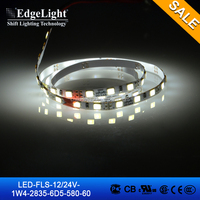 Edgelight 12V strip led light , 2835 warm white flexible smd led strip , CE/ROHS/UL listed LED strip