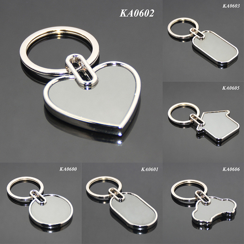 DIY Accessories Keyring Promotional Gifts Giveaways Wholesale Various Styles Cheap Blank Alloy Metal Keyring