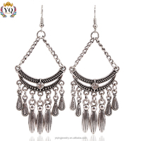 EYQ-00062 2016 latest design water drop tassel fashion earring jewelry for women