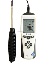 portable probe type wind speed meter air velocity measuring instrument
