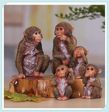 small monkey statue resin monkey with lovely monkey design