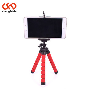 Mobile Phone Self-timer Triangular Bracket Mini Cell Phone Camera Stand Clip Holder Mount Tripod