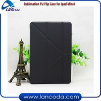 Printable leather flip cover Sublimation PU flip phone case for ipad mini 4