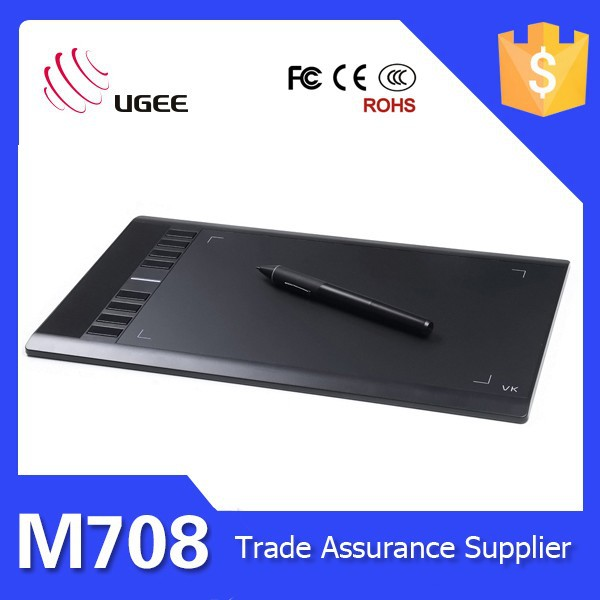 Ugee M708 10x6 inch 2048 levels 230RPS computer writing pads