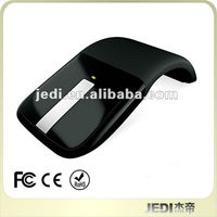 Custom Portable Laptop retractable optical wireless arc touch mouse optical mouse