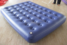 2014 hot sale promotion EN71 pvc blue big inflatable mattress ,inflatable air mattress for sale