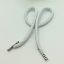 Decorative Durable Elastic Washable DTY Shoelaces Plastic Clips for Shopping Bags Rope for Handbags