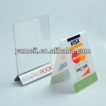 New 10 Acrylic Table Top Sign Holders Menu Display