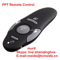 PPT remote control five big keys black mini 2014 China wireless power point word presenter cursor mouse laser pointer wireless