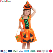girl costume pumpkin witch kids halloween costume
