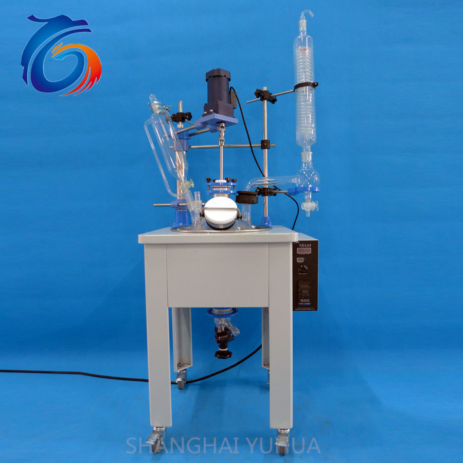 10L High quality easy observe of glass chemical synthetic reactor