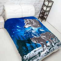 COZY! and NEW! Latest blankets Wolf design animal shaped 3d blanket