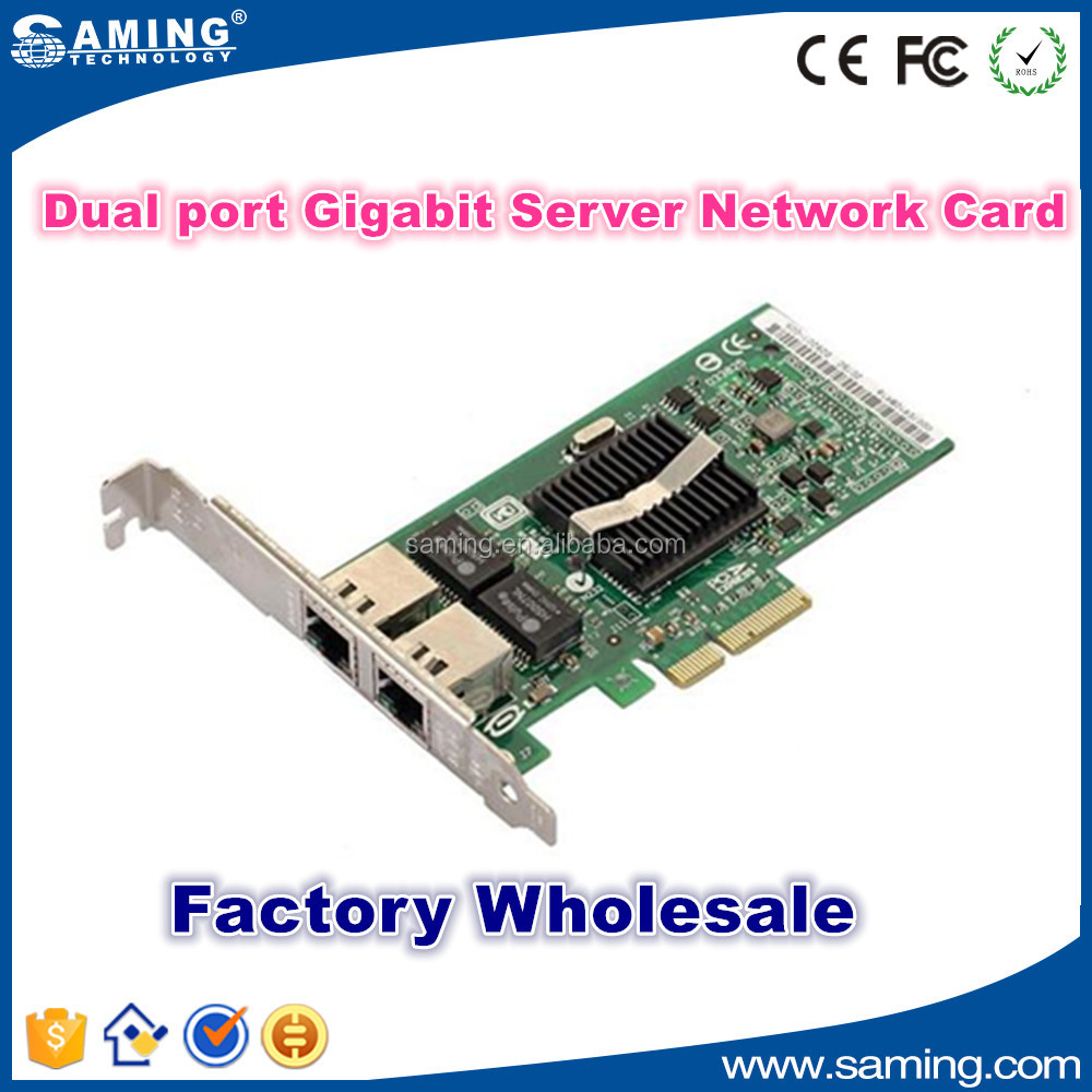 Intel Dual Port Gigabit NIC PCI Express PCIe x1 Card Low Profile Network Adapter