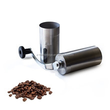 Manual Coffee Grinder adjustable ceramic burr with Bag, Brush & Scoop. Stainless Steel-Best coffee mill for perfect coffee