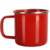 Red enamelware drinking enamel mug made with gold steel rim for camping