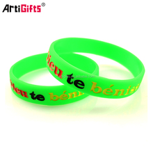 Promotion cheap debossed ink filled silicone wristband