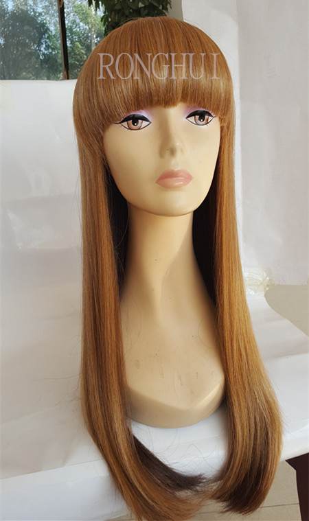 High quality hot sale in US silky straight long hair synthetic blonde hair wig