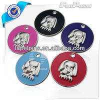 Metal Dog Face Enamel Pet Tags for Dogs