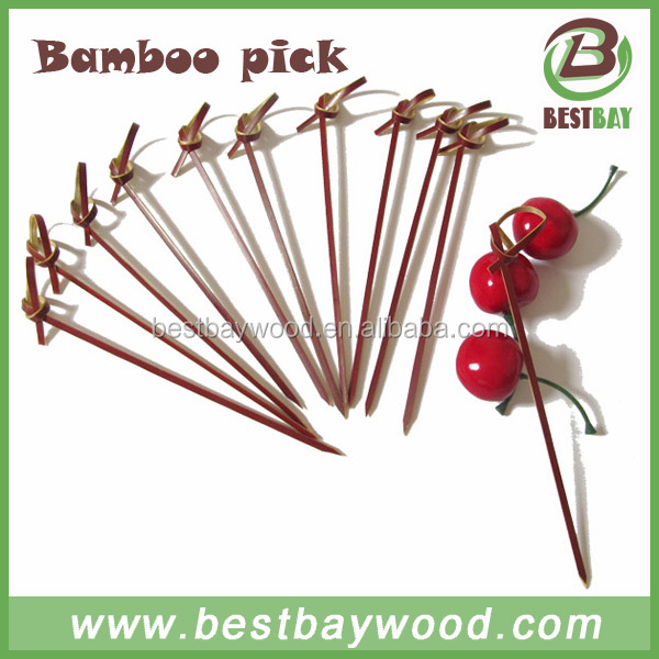 Knotted bamboo fruit sticks, bamboo knot skewer