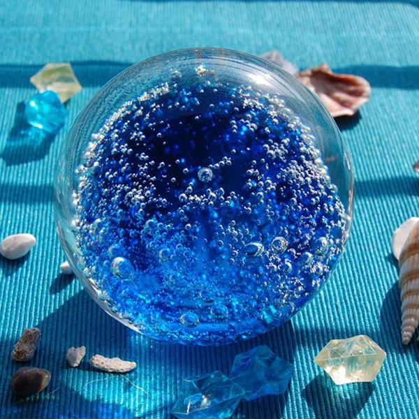 Wholesale new arrival hand blown blue bubble christmas